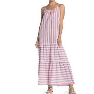 BeachLunchLounge red/white striped maxi dr…